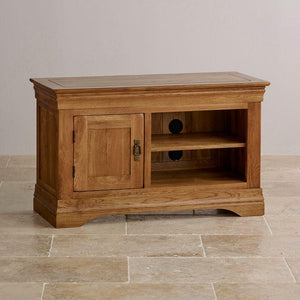 French Rustic Small TV Unit - Oak Furniture Store & Sofas