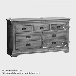 French Rustic Solid Oak 3+4 Chest Of Drawers - Oak Furniture Store & Sofas