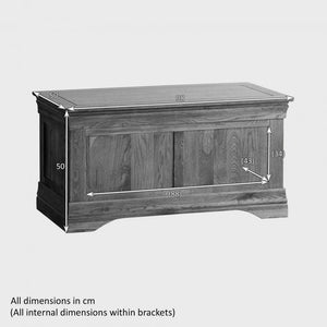 French Rustic Solid Oak Blanket Box - Oak Furniture Store & Sofas