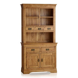French Rustic Solid Oak Hutch Dresser - Oak Furniture Store & Sofas