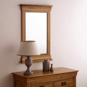 French Rustic Solid Oak Mirror - Oak Furniture Store & Sofas