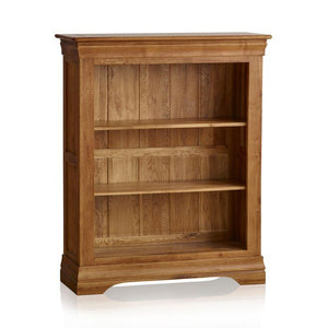 French Rustic Solid Oak Small Bookcase - Oak Furniture Store & Sofas