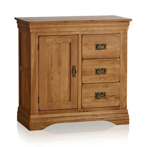 FRENCH RUSTIC SOLID OAK STORAGE CABINET - Oak Furniture Store & Sofas