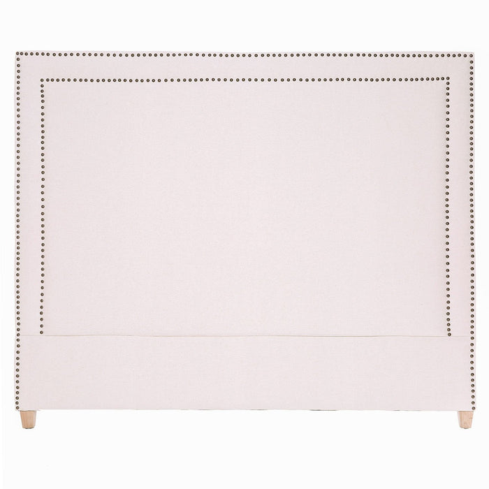 GEORGE LINEN HEADBOARD IN NATURAL - KING
