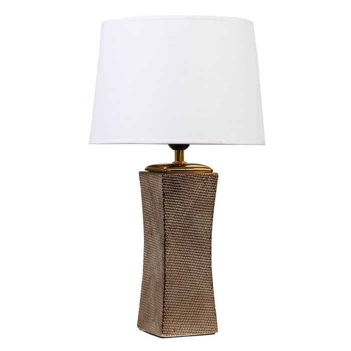 GOLDEN NET II LAMP WITH WHITE SHADE