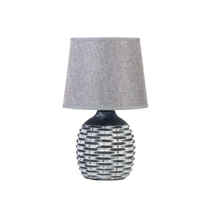 HONEYCOMB LAMP WITH GREY SHADE - Oak Furniture Store & Sofas