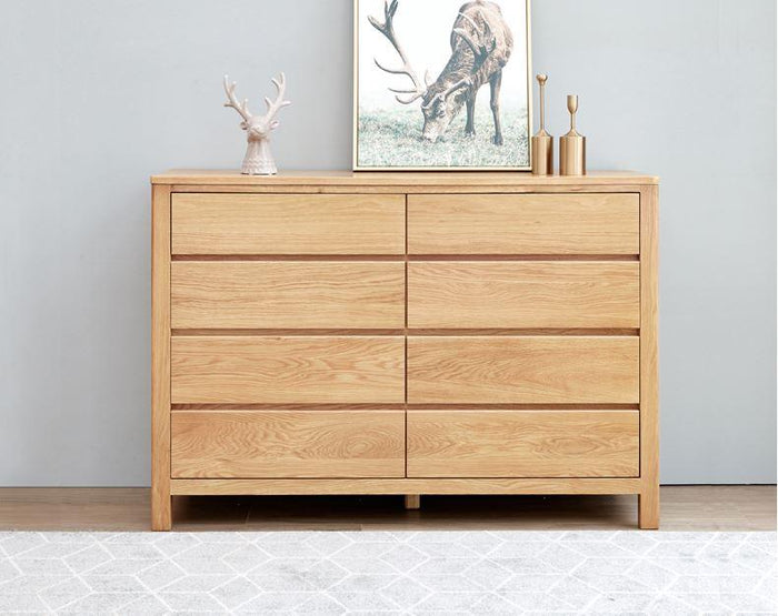 Humbie Natural Solid Oak 8 Drawers Chest (Coming Soon!)