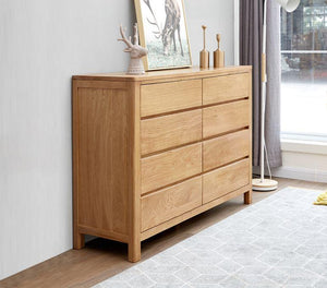Humbie Natural Solid Oak 8 Drawers Chest (Coming Soon!) - Oak Furniture Store & Sofas
