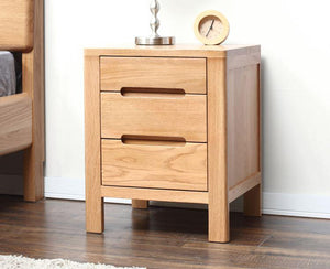 Humbie Natural Solid Oak Bedside Table (New Product Coming Soon!) - Oak Furniture Store & Sofas