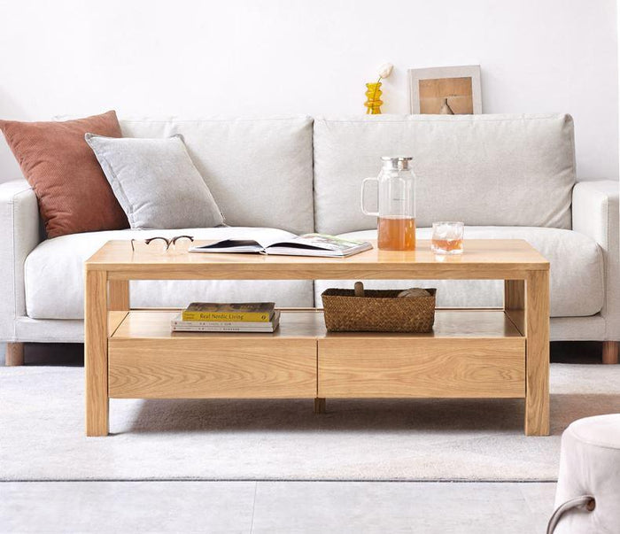 Humbie Natural Solid Oak Coffee Table