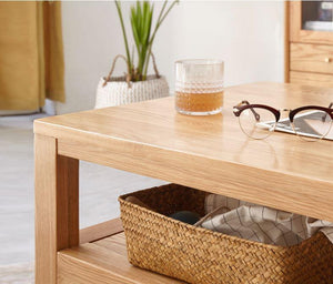 Humbie Natural Solid Oak Coffee Table (Coming Soon!) - Oak Furniture Store & Sofas
