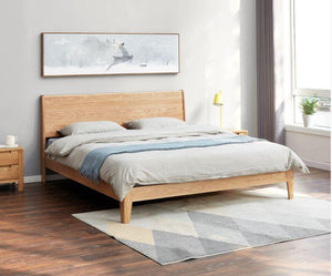 Humbie Natural Solid Oak Queen Size Bed (New Product Coming Soon!) - Oak Furniture Store & Sofas