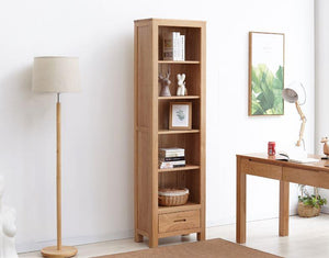 Humbie Natural Solid Oak Slim Bookcase (Coming Soon!) - Oak Furniture Store & Sofas