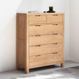 Humbie Natural Solid Oak Two Over Four Chest Drawers - Oak Furniture Store & Sofas