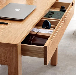 Humbie Solid Oak Computer Desk (New Product Coming Soon!) - Oak Furniture Store & Sofas