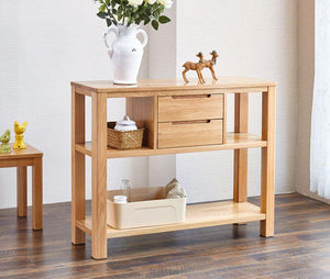 Humbie Solid Oak Console Table (New Product Coming Soon!) - Oak Furniture Store & Sofas