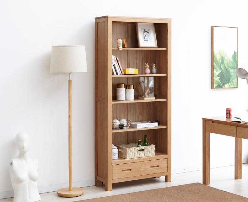 Humbie Solid Oak Large Bookcase (Coming Soon!) - Oak Furniture Store & Sofas