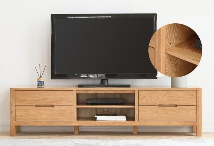 Humbie Solid Oak Large TV Unit