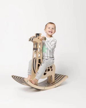 Kids Wooden Animal Rocking Toy - Oak Furniture Store & Sofas