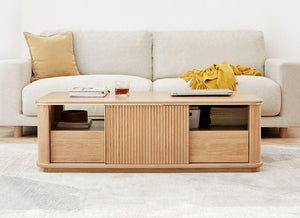Lena Natural Solid Oak Coffee Table (Coming Soon!) - Oak Furniture Store & Sofas