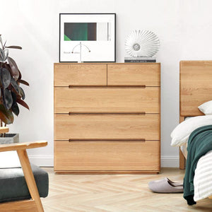 Manchester Natural Solid Oak 2+3 Chest of Drawers (New Product Coming Soon!) - Oak Furniture Store & Sofas