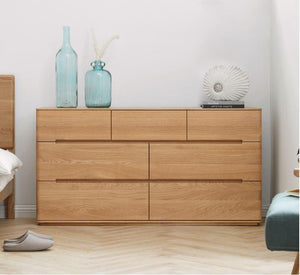Manchester Natural Solid Oak 3+4 Chest of Drawers (New Product Coming Soon!) - Oak Furniture Store & Sofas