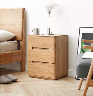 Manchester Natural Solid Oak Bedside Table (New Product Coming Soon!) - Oak Furniture Store & Sofas