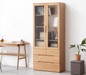 Manchester Natural Solid Oak Display Cabinet (New Product Coming Soon!) - Oak Furniture Store & Sofas