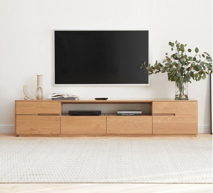 Manchester Natural Solid Oak large TV Unit