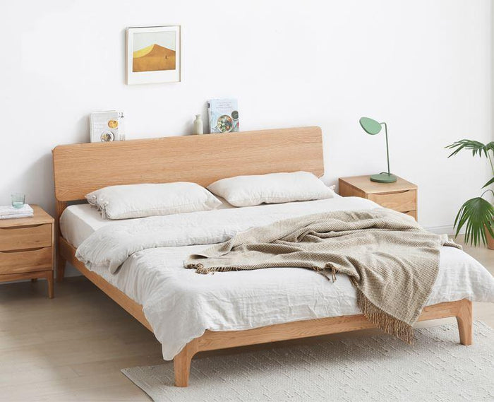 Berlin Natural Solid Oak Queen Size Bed (New Product Coming Soon!)