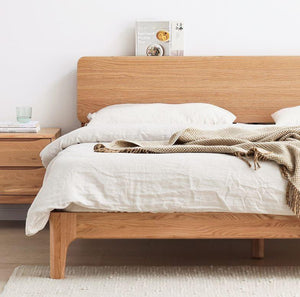 Manchester Natural Solid Oak Queen Size Bed (New Product Coming Soon!) - Oak Furniture Store & Sofas