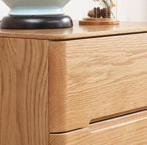 Manchester Natural Solid Oak Tall Boy (Coming Soon!) - Oak Furniture Store & Sofas