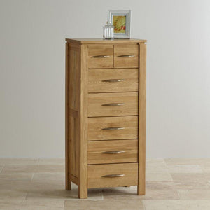 Osaka 2 Over 5 Drawers Tallboy - Oak Furniture Store & Sofas