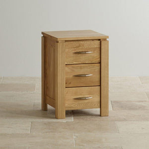 Osaka 3 Drawers Bedside Table - Oak Furniture Store & Sofas