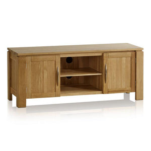 Osaka Natural Solid Oak Large TV Cabinet - Oak Furniture Store & Sofas