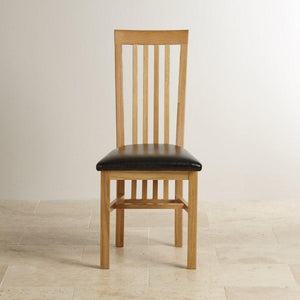 Osaka Solid Oak Slat Back Dining Chair - Oak Furniture Store & Sofas