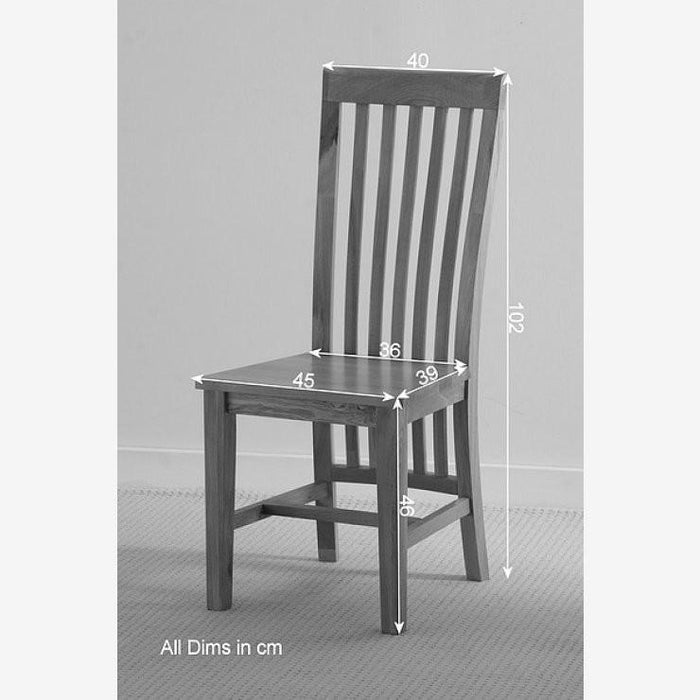 Osaka Solid Oak Slat Back Dining Chair Oak Padding