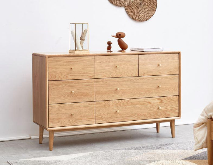 Oslo Natural Solid Oak 3+4 Chest of Drawers