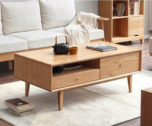 Oslo Natural Solid Oak Coffee Table - Oak Furniture Store & Sofas