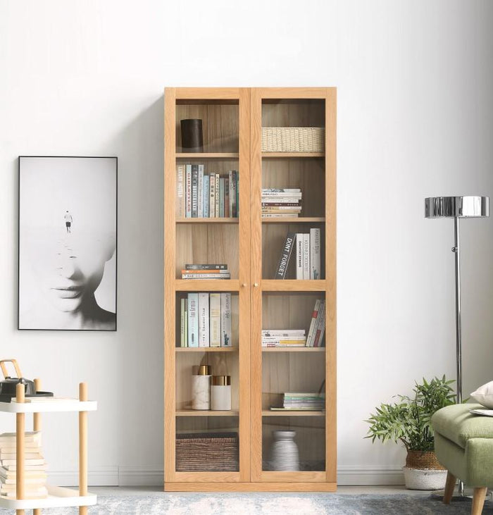Oslo Natural Solid Oak Display Cabinet