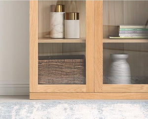 Oslo Natural Solid Oak Display Cabinet - Oak Furniture Store & Sofas