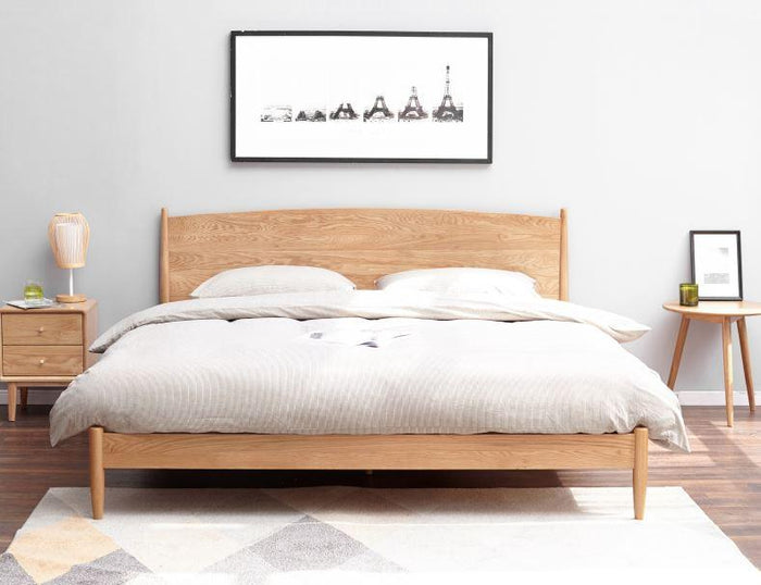 Oslo Natural Solid Oak Queen Size Bed (New Product Coming Soon!)