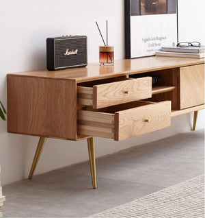 Parquet Oak TV Unit - Oak Furniture Store & Sofas