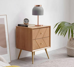 Parquet Solid Oak Bedside Table - Oak Furniture Store & Sofas