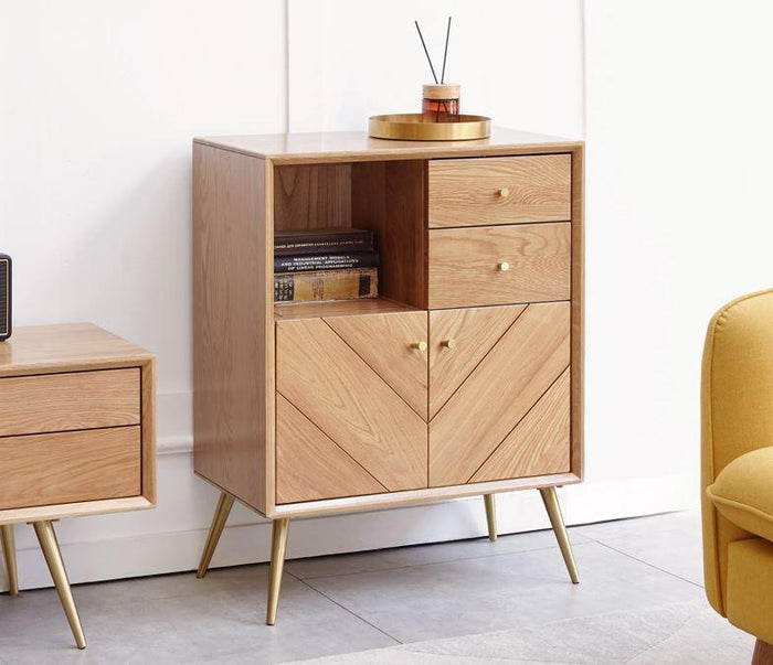 Parquet Solid Oak Small Sideboard