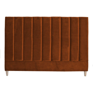 PENELOPE VELVET H/BOARD QUEEN OCHRE - Oak Furniture Store & Sofas