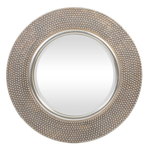 PORTHOLE BEVELLED MIRROR - LT GOLD/ANTIQUE PEWTER - Oak Furniture Store & Sofas