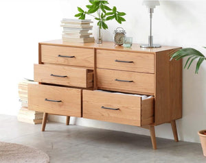 Prunus Solid Cherry 6 Chest of Drawers - Oak Furniture Store & Sofas