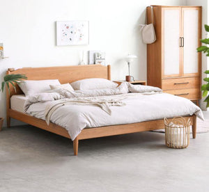 Prunus Solid Cherry Bed Frame - Oak Furniture Store & Sofas