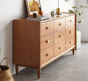 Prunus Solid Cherry Large Chest of Drawers - Oak Furniture Store & Sofas